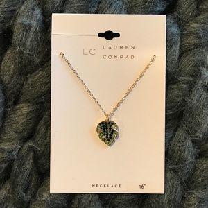 LC Lauren Conrad Palm Leaf Pendant Necklace - NWT